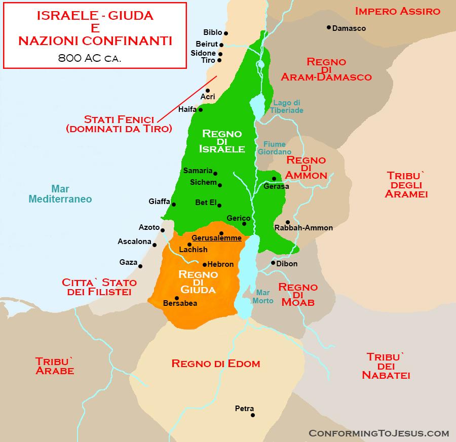 Cartina Stato Di Israele.Mappa Di Israele E Nazioni Vicine Israele E Nazioni Confinanti