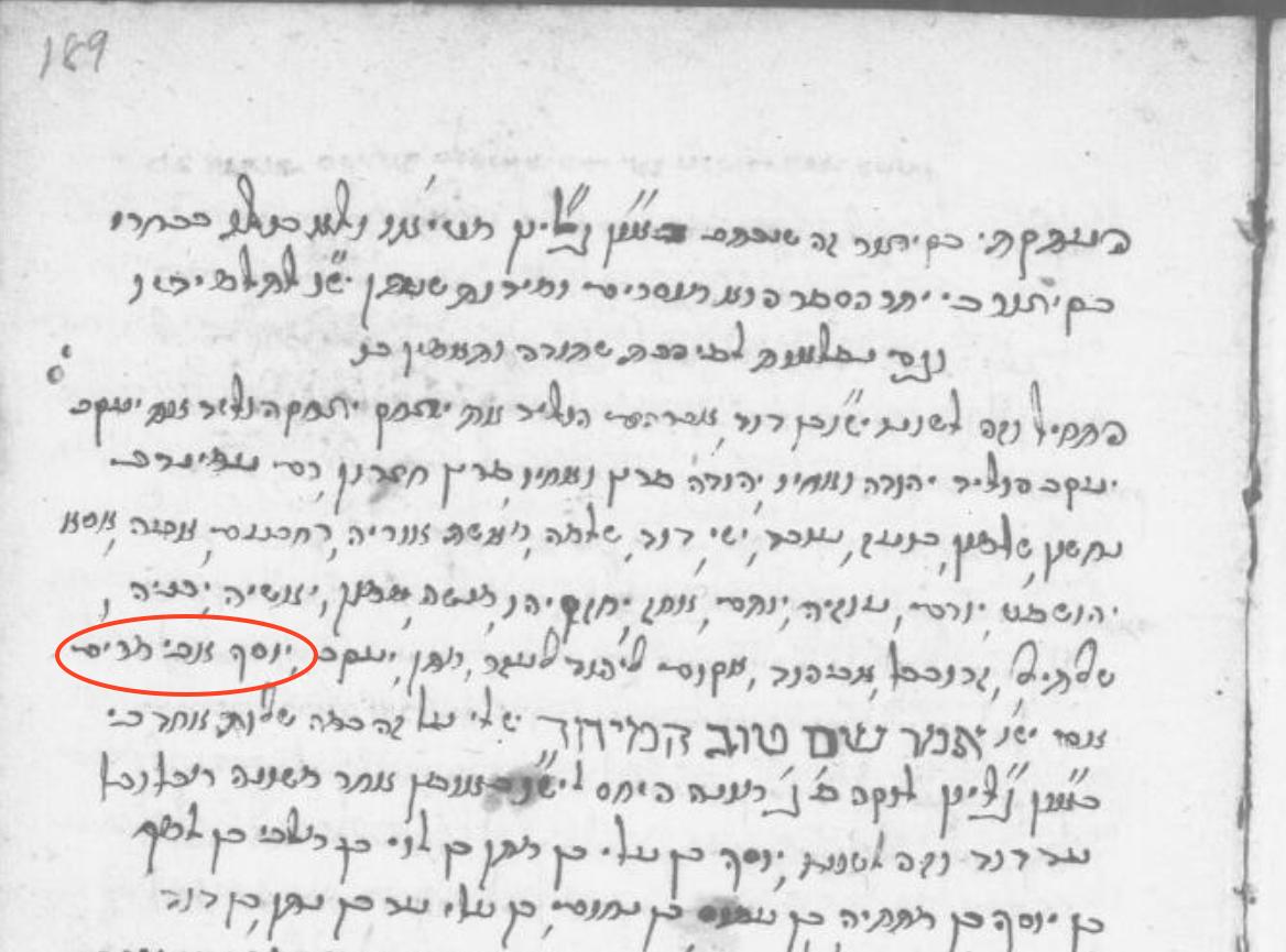 Hebrew Manuscript page - Gospel of Matthew