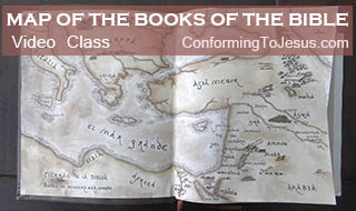 Video Class about places where the Books of the Bible were originally written - Books of the Bible Map
