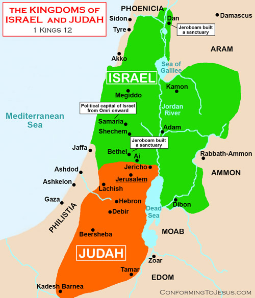 the united kingdom divided After the death of solomon, the united monarchy split into two kingdoms with the defection of the ten northern tribes under the leadership of jeroboam i the southern kingdom of judah, essentially the tribes of judah and benjamin that remained loyal to rehoboam, maintained its capital in jerusalem and enjoyed three-and-a-half centuries of.