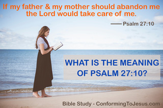 What Is The Meaning Of Psalm 27 10 Bible Study On Psalm 27