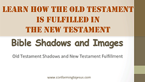 Bible Shadows and Images - Old Testament Shadows and New Testament Fulfillment - Conforming To Jesus