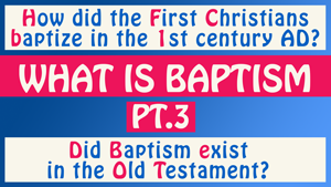 What is Baptism Part 3 - Conforming To Jesus