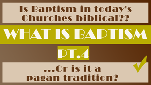 What is Baptism Part 4 - Conforming To Jesus