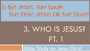 Who is Jesus Pt.1 - Conforming To Jesus