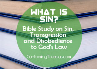 What is Sin? Bible study and teaching on Sin and Transgression and Disobedience to God's Law